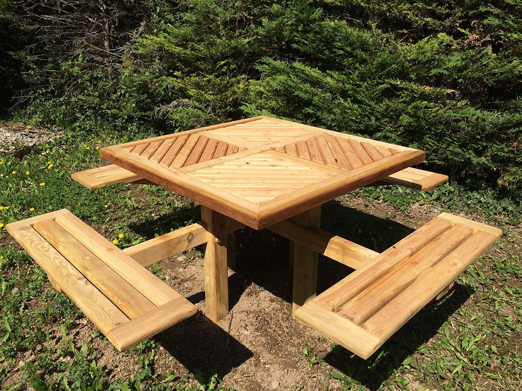 table picnic bois cool table picnic bois leroy merlin. Black Bedroom Furniture Sets. Home Design Ideas